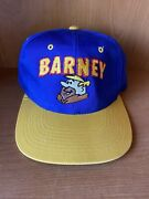 Vintage 1993 Embroidered Snapback Barney From The Flinstones Collectible Hat