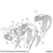 Indian Motorcycle Fairing-lower,outer,lh,blkvcrz, Qty 1