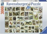 Ravensburger Animal Stamps 3000 Piece Puzzle - New - Rare - Ships Fast