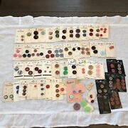Rare Lot New And Used Vintage And Antique Buttons/glass And Plastic
