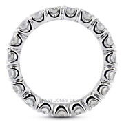 2 Ct F Si1 Round Cut Natural Certified Diamonds 950 Pl. Classic Eternity Ring