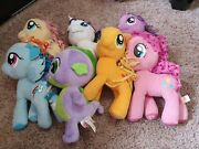 My Little Pony Full Set 11 Plush Ponies And Spike Hasbro 2012 To 14