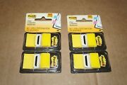 Lot 2 Post-it® Flags Standard Page Flags In Dispenser, Yellow, 100 Flag