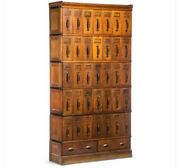 Rare Oak Barrister 37 Drawer Library Card Catolog Barrister 6 Stackable Sections