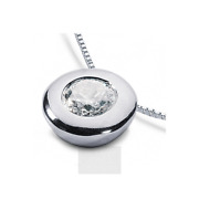 1 1/4 Ct I Si2 Round Cut Natural Certified Diamond 950 Pl. Solitaire Pendant