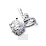 1 1/4ct I Si2 Round Natural Certified Diamond 18k Gold Classic Solitaire Pendant