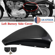 For Sportster Xl883 Xl1200 2014-18 Left Battery Side Cover W/card Buckles Black