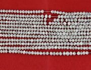 Creamy White Diamond Roundel Beads 2.5 To 3 Mm Approx 15 Inch Long String