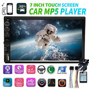 Sony Len Camera + Double 2 Din 7 Car Stereo Radio Mp5 Player For Audi A1 A3 A6