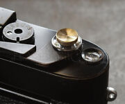 Nanigashi Shutter Release Button Solid Brass And039 Small And039 Size Japan Made 014684