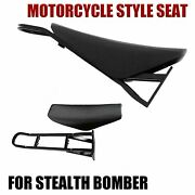 Motorcycle Style Seat For Stealth Bomber Electric Mountain Bike Beach Cruiser Pu