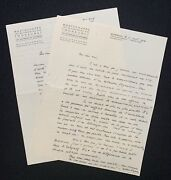Willem Pijper Autograph Letters Signed To Pierre Monteux Ca. Wwii