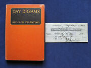 Day Dreams By Rudolph Valentino Wi Original Autograph Bank Check Signed By Him