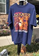 Rare Vintage Lebron James Cleveland Cavaliers Rookie Of The Year T Shirt Large