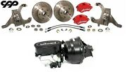 64-72 Chevelle 2 Drop Spindle 12 Disc Brake Conversion Kit Wilwood Booster Kit