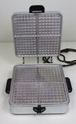 Sunbeam Waffle Iron Maker Barely Used Vintage Model W-2-a 1950andrsquos Chrome