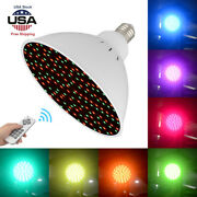 25w 252led 7color Rgb Underwater Swimming Pool Light Lamp W/ Remote Control 120v