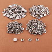 300x Silver 15mm Rivet Buttons Poppers Snap Fasteners Press No Sew Leather Craft