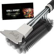 Bbq Grill Brush Scraper Cleaner Set All Gas Charcoal Grilling Grates Stainless