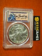 2004 1 American Silver Eagle Pcgs Ms70 Len Buckley Hand Signed Label