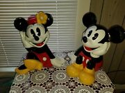 Disney Mickey And Mini Mouse Cookie Jars By Treasure Craft Vintage Mexico Set -2