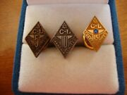 Birks 10k Solid Gold Pin Canadair Limited 15 Years + 5 Years 10 Years Set Of 3