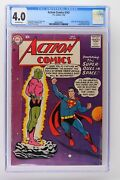 Action Comics 242 - Dc 1958 Cgc 4.0 - Origin And 1st App Of Brainiac. Superman