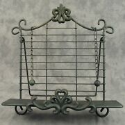 French Country Wrought Iron Cookbook Stand Book Easel Fleur-de-lis Cast Iron