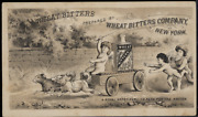 Victorian Trade Card Wheat Bitters 1890s New York A Royal Appetizer Vtc-a76
