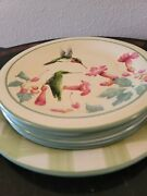 Ruby-throated Hummingbird Plates By Lenox 1 Dinner And 4 Cake Plates