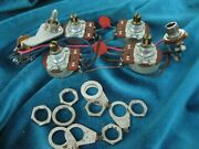 1972 Gibson Sg Deluxe Or Pro Guitar Wiring Harness Pots Jack Switch Short Shafts