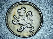 1812 Spanish Colonia Lion And Castle Mo 1/4 Real - Very Rare 209 Year Old Coin
