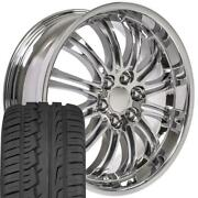 Oew Fits 22x9 Wheels And Tires Chevy Gm Escalade Chrome Rims W/ironman 5413