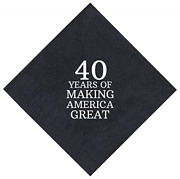 40th Birthday Gifts 40 Years Making America Great 50 Pack 5x5 Party Napkins