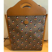 Disney Mickey Mouse Collaboration Handle Tote Bag Leather Limited Edition