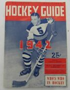 1942 National Hockey Guide Rules Records And Schedules 129484