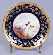 Cauldon Collamore Painted Canvasback Ducks Porcelain Game Plate Signed D Birbeck