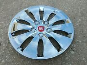 16 Custom Chrome Hubcaps Wheelcovers For Fiat 500 4 Dr 4 New Better Than Oem