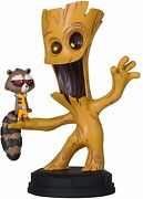 Marvel Animation Style Glute And Rocket Raccoon Resin Statue Gentle Giant Studios