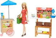 Barbie Sweet Orchard Farm Farmers Market With Barbie Doll Playset Brand New Toy