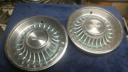 Two Vintage Cadillac Hubcaps 1962 Pair In A Soft Green Coupe De Ville Fleetwood