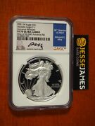 2021 W Proof Silver Eagle Ngc Pf70 Ultra Cameo Advanced Releases Edmund Moy T-1