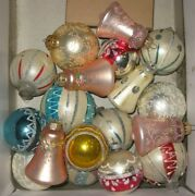 Vintage Christmas Ornaments Lot Of 17 Antique Holiday Deco Free Shipping