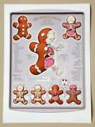 Jason Freeny Gingerbread Man Dissected Signed Pp Print Ltd 75