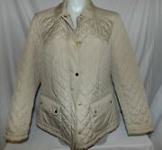 Charter Club Women's Beige Snap And Front Zip Outer Wear Jacket Size 2x