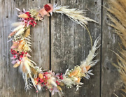 Adjustable Dried Flower Wreath Crown Made Of Dried Flowers