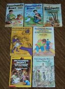 Lot Of 7 Encyclopedia Brown Children's Books - Hardcover And Soft 1,5,7,13,17,25+