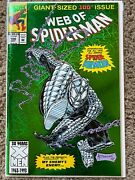 Web Of Spiderman 100 -1st Armor Spider And Origin Foil Cover Never Read - Wow