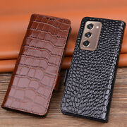 Genuine Leather For Samsung Gaxlay Z Fold2 5g Business Classic Flip Case Cover