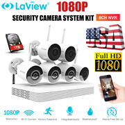 Laview 8ch Nvr With 6x 1080p Wifi Ip Cameras H.265+ Security Camera System Kit